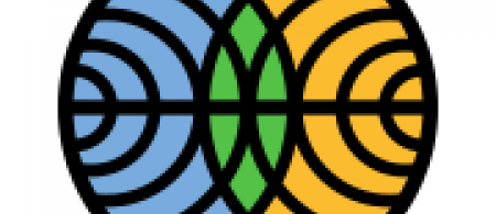 Lofo of FMI: a circle with circles, blue, green and orange