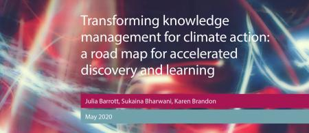 Cover of the PLACARD Transforming knowledge management for climate action report