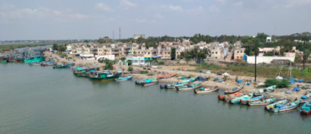 Fishing settlement affected by the 2004 Tsunami and Cyclone Gaja in Akkaraipattai, Nagapattinam (Photo credits: Chandni Singh)