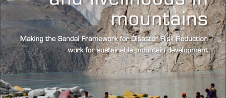 Cover photo: Goods had to be transported by boat after the Atta Abad landslide flooded 25 km of the Karakoram Highway, Pakistan, in 2010 (D. Butz)