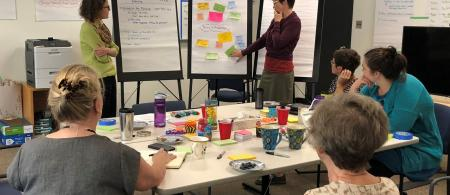 Participants in a Climate Change Adaptation Design Sprint